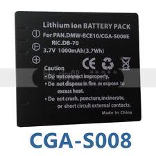 Battery pack For Panasonic DMC FX500 FX520 SDR S26 CGA-S008A DMW-BCE10E-VW-VBJ10