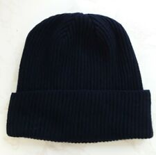 Made in Scotland Beautiful  100% CASHMERE   Beanie hat   NAVY