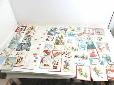 HUGE LOT OF 100+ VINTAGE 1940'S ERA GREETING CARDS MOSTLY ALL CHRISTMAS