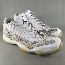 Nike Air Jordan 11 XI Retro Low Mens SZ 12 Basketball Shoes Sneakers White Gray