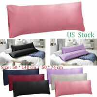 1-2 Body Pillow Case Ultra Soft Microfiber Long Bedding Body Pillow Covers Solid