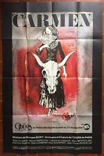 Poster Carmen Opera de Paris Georges Bizet Marcel Marechal Gourmelin 1983