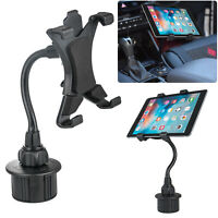"""360° Car Cup Holder Mount Holder For 7-10"""" iPad Mini/2/4/5/Air Samsung Tablet"""