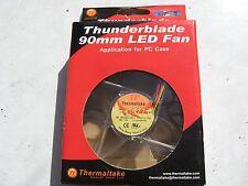 Inutilizzato in scatola Thermaltake Thunderblade A1911 LED blu Ventola per custodia 9 cm.