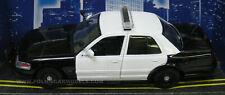 Motormax 1/24 2010 Ford Crown Victoria Police Car Blank Black & White 76420