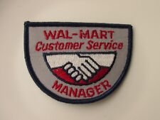 WAL-MART CUSTOMER SERVICE MANAGER OLD SEW ON PATCH FROM THE 1980's VINTAGE ASDA