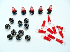 "15 Red Domes LEDs Lights Bulbs 3/8"" Sockets Instrument Panel Cluster Dash Chevy"