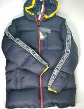 NEW TOMMY HILFIGER Men's BLUE PUFFER DOWN ALPINE     COAT HOODED JACKET Size M