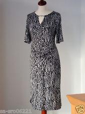 BASLER hochwertiges Kleid - schwarz-weiß