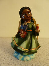 Angel Girl Figurine in Green dress with Golden wings
