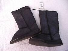 Bnwt Little Girls Sz 8 Rivers Doghouse Brand Long Black Sparkle Slipper Boots