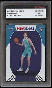 LAMELO BALL 2020-21 PANINI HOOPS 1ST GRADED 10 ROOKIE CARD RC CHARLOTTE HORNETS
