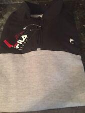 FILA SPORT MENS 1/4 Zip Mock Neck Pocketed Pullover Gray/Black Size 3XB NWT