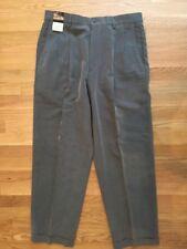 "NWT!! Men's Claiborne 35 Gray Pleated & Cuffed Dress Pants. Inseam 30""."