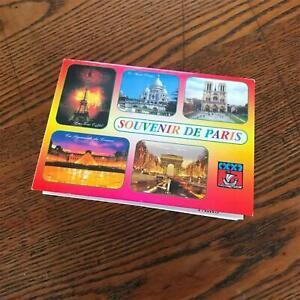 18 Souvenir Monuments de Paris Pull Out Post Cards Book - intact Vintage Item