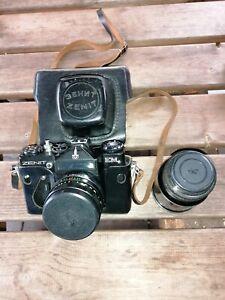 Zenit EM Vintage SLR Camera plus Lenses