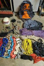 Lot of various climbing gear
