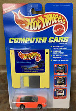 NIP Hot Wheels Computer Cars #154548 '96 1996 Mustang Disk & Vehicle Mattel 1995