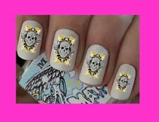 Nail Art Decals Skull Pirate Transfers Stickers Wraps Foils Manicure X 40 Goth
