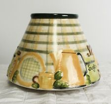 Yankee Candle Lg Shade Kitchen Counter Items Plaid Country Canister Kettle