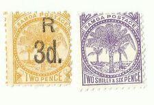 Samoa postage stamps 1895 x 2, used