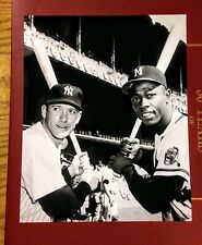 "Mickey Mantle & Hank Aaron  - 8"" x 10"" Photo - 1950's- New York Yankees & Braves"