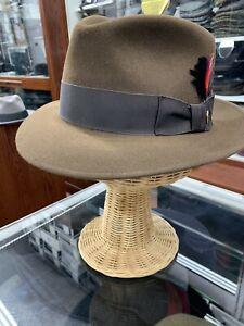 Stetson Eagle Men's Fur Felt Fedora Hat Made In USA Size 7 3/8