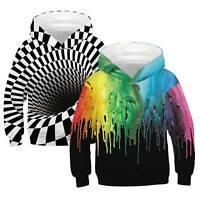 Kids Sweater 3D Print Hoodie Sweatshirt Hooded Pullover Long Sleeve Jacket Coat