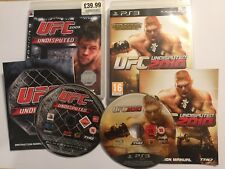 2 x COMPLETE PS3 PLAYSTATION 3 FIGHT GAMES BUNDLE UFC UNDISPUTED 2009 & 2010 PAL