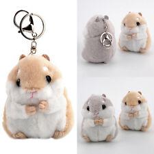Soft Plush Cartoon Small Hamster Toy Doll Key Chain Stuffed Mouse Kids Cute Gift