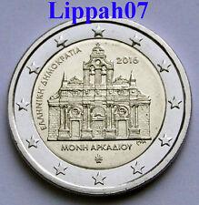 Griekenland speciale 2 euro 2016 Arkadi Klooster UNC