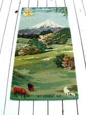 "Vintage Feltex New Zealand ""Mount Egmont"" collectors rug Vgc *Lqqk*"