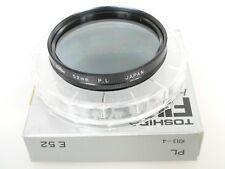 Toshiba 52mm PL pol polarizzatore lineare Top + BARATTOLO 52mm filettatura 49mm screw in + CASE