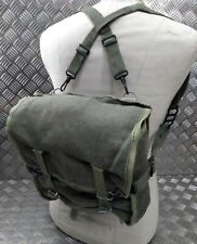 Genuine Polish Military Issue Canvas Bread Bag / Medics Satchel With Straps