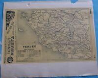 Atlas du Bottin 1946 Carte ancienne Géographie France Dép. Vendée & Vienne