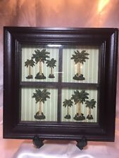 Coconut Trees 3-D Shadow Box Wall Art Picture