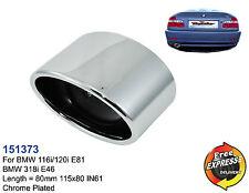 Auspuff Endrohre verchromt Edelstahl fur BMW 116i 120i E81 318i E46
