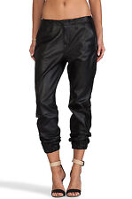 NWT WOMEN'S RAG & BONE/JEANS PAJAMA JEAN BLACK LEATHER #W1609L008 28x28 MSRP$660