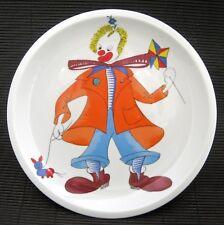 Vintage Spal Portugal Porcelain Dinner PLATE Clown Art