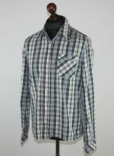 Nudie Jeans mens casual checks cotton shirt Size L