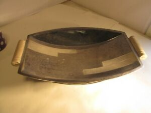 art deco silverplated bowl.    walker and hall