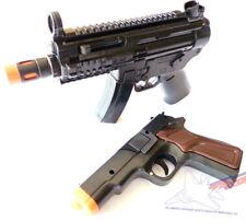 2x Toy Machine Guns Elec MP5 Toy Rifle w/ Sound FX & Black 9MM Pistol Cap Gun