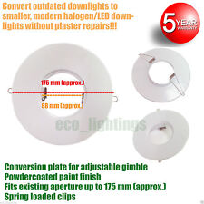 White Downlight Conversion Plate -Convert Old Halogen lights to LED 88mm