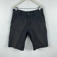 Billabong Mens Shorts Size 32 Grey Plaid With Pockets