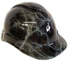 Hydro Dipped Hard Hat Ridgeline Cap Style Custom Light Gray Lightning