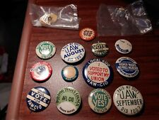 Vintage Union Pins UAW Member Pinback Button Factory Workers lot of 15