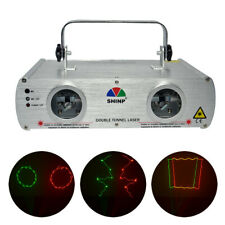 DMX Scanning 2 Lens RG Laser DPSS Projector Light DJ Party Show Stage Lighting