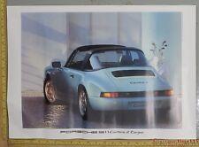 """Porsche 911 964 Targa Genuine Factory Showroom Poster Original 16.5"""" x 23.5"""""""