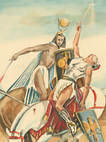 John Armstrong - A Pair of 20th Century Watercolours, Classical Figures