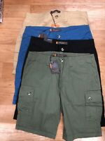 Roll Up Or Down BEN SHERMAN Cotton Cargo Pocket Shorts, Relaxed Fit